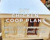 Small Flock Chicken Coop Plans - Simple, Strong And Easy To Make With 2x4's!