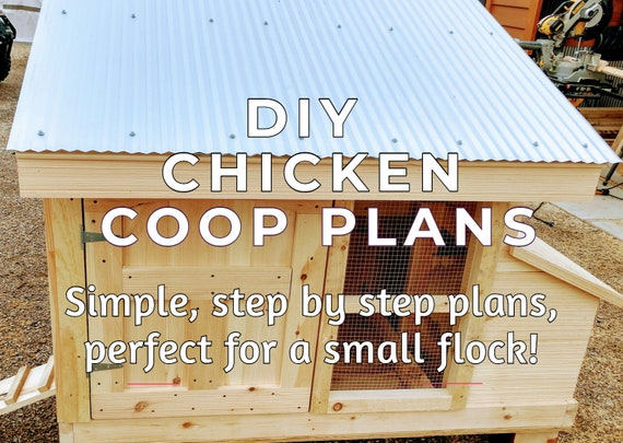 Small Flock Chicken Coop Plans Simple Strong And Easy To Etsy