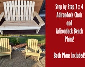 Adirondack Chair and Bench Plans - 2 Great Plans At Once!