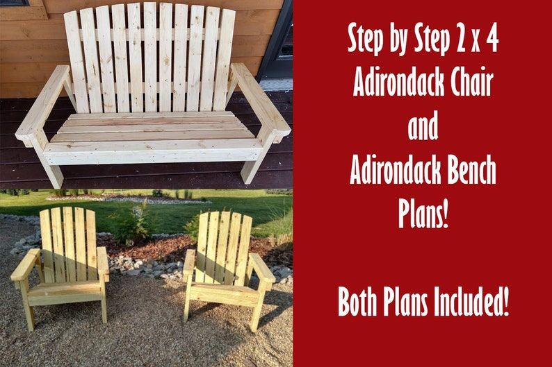 Adirondack Chair and Bench Plans  2 Great Plans At Once image 0