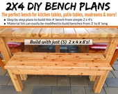 2x4 Bench Plans - The Perfect Bench For Tables & More!