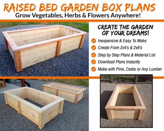 Diy Raised Bed Garden Box Plans Simple, Diy Raised Garden Planter Plans