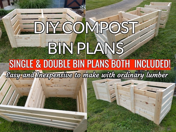 Diy Single Double Compost Bin Plans With Adjustable Front Slats