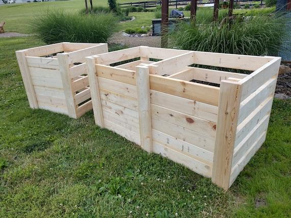 DIY Single & Double Compost Bin Plans With Adjustable Front Slats