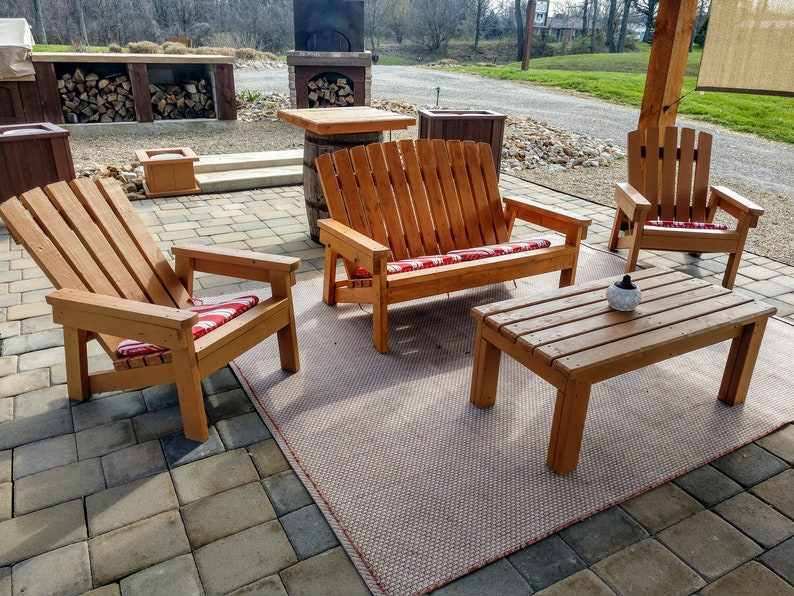 2x4 Outdoor Seating Bundle Plans  Plans For Adirondack Chair image 0