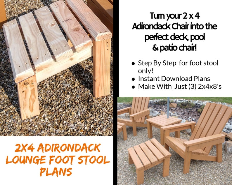 2x4 Foot Stool Plans For 2x4 Adirondack Chair image 0