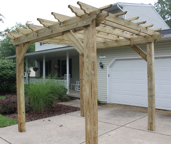 50 - Pergola Plans: Complete Plans To Build A Garden Pergola Etsy