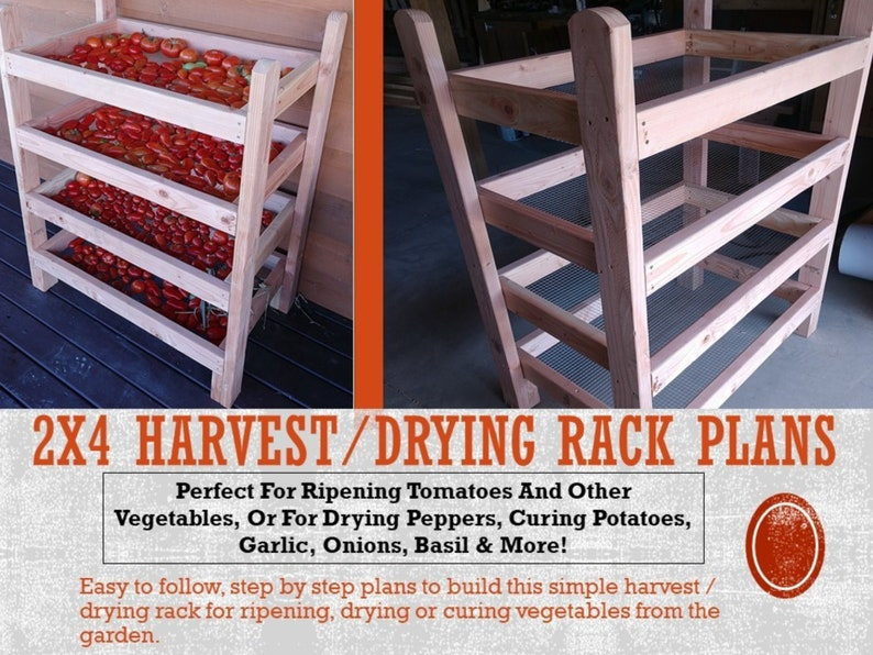 2x4 Harvest / Drying Rack Plans image 0