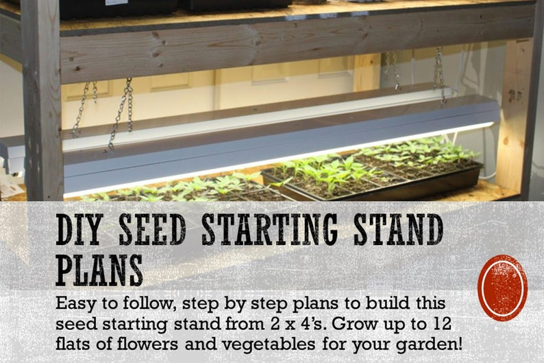 2 x 4 DIY Seed Starting Rack Plans  With Seed Starting Tips image 0