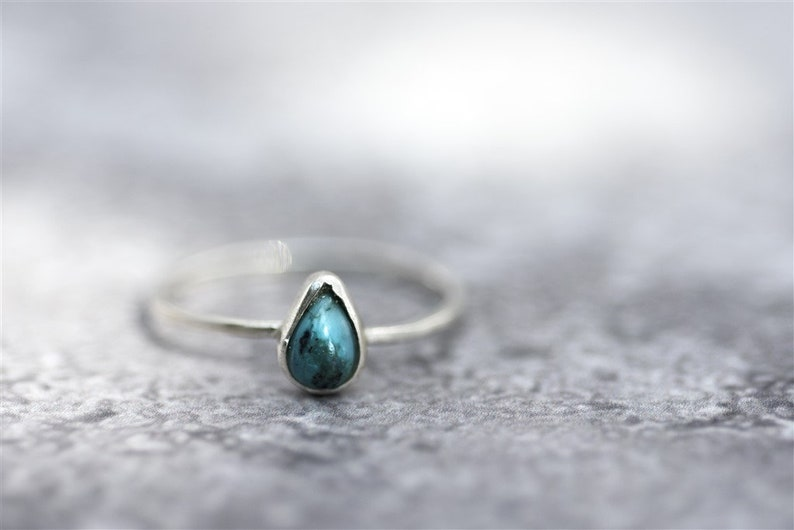 Unique Stacking Ring Stone Stacking Ring Thin Stackable Ring Ring for Women Teardrop Solitaire Ring Teardrop Ring Silver Stacking Ring