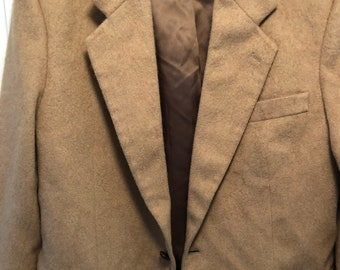 Tan Camel Vintage Men's Blazer