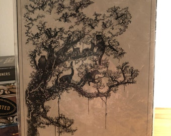 Original Artwork - Pen and Ink of Tree in Monteverde