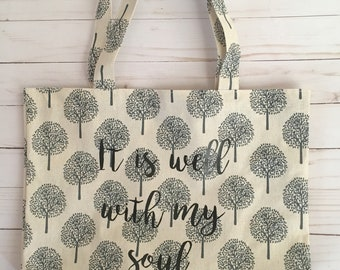 It is Well With my Soul Tree Tote