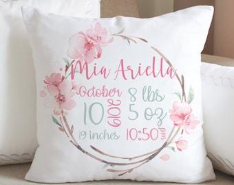 Monogram pillow Nursery Personalized Pillow Personalized Name pillow Personalized Pillow Baby Shower Gift Kid Name Pillow Nursery Decor