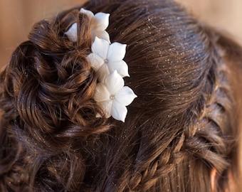 Bridal Hair Pins, Wedding Hair Pins, Set Of6 Stephanotis Hair Pins, Wedding Headpiece, Bridal Hair Flowers, Wedding Hair Pieces, Hair Pins