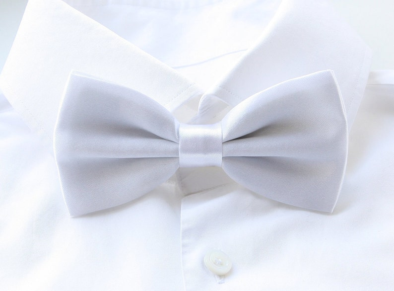 Groom's Bowtie White Bowtie For The Groom Men's image 0