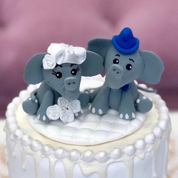 Awe Inspiring Cake Topper Elephant Cake Topper Birthday Cake Topper With Etsy Funny Birthday Cards Online Overcheapnameinfo