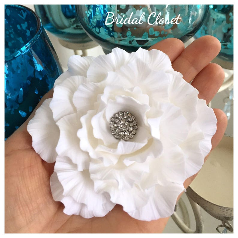 Bridal Fascinator Wedding Fascinator Gardenia Fascinator image 0