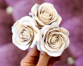 Flower Hair Pins, Bridal Hair Pins, 3 Wedding Hair Flowers Bridal Hair Accessories, Bridal Floral Headpiece, Wedding Hair Pieces With Roses