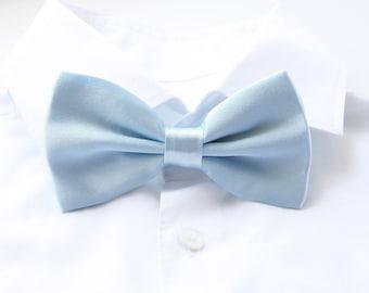 Groom's Bowtie, Light Blue Bowtie For The Groom, Men's Gift, Groom's Tie, Groom's Gift, Wedding Bowtie, Satin Bowtie