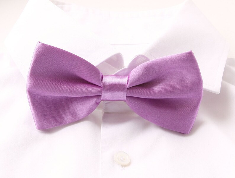 Groom's Bowtie Light Purple Bowtie For The Groom image 0