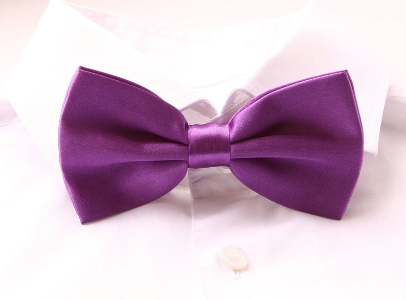 Groom's Bowtie Purple Bowtie For The Groom Men's image 0