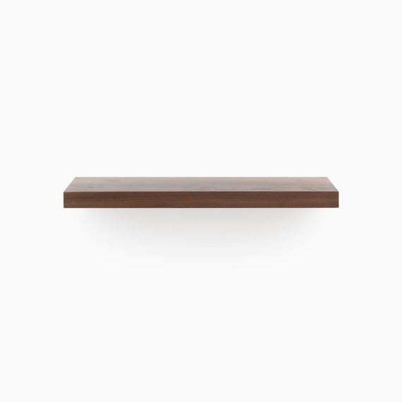 Remarkable Walnut Cut To Length Solid Hardwood Floating Shelves Clear Finished Shelf Patented Hd Bracket System Ready To Hang Kit Download Free Architecture Designs Embacsunscenecom