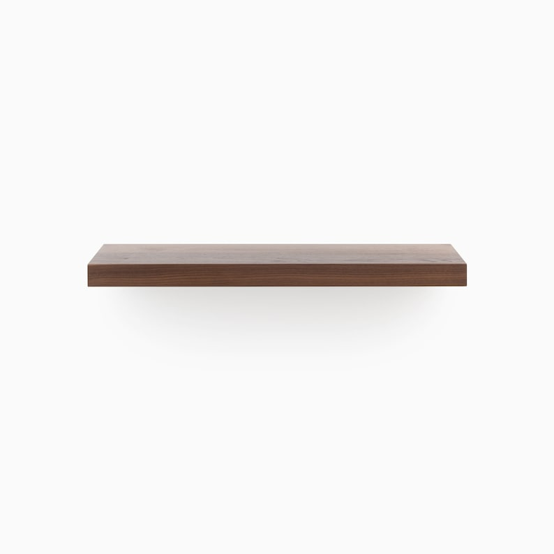 Magnificent Walnut Cut To Length Solid Hardwood Floating Shelves Clear Finished Shelf Patented Hd Bracket System Ready To Hang Kit Download Free Architecture Designs Embacsunscenecom