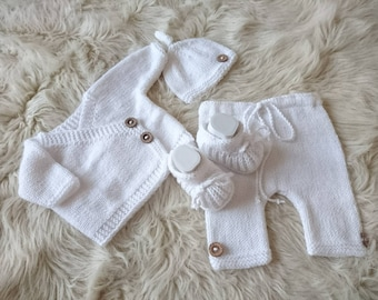 f3f66dc155a17 Gender neutral coming home outfit newborn knit outfit baby   Etsy