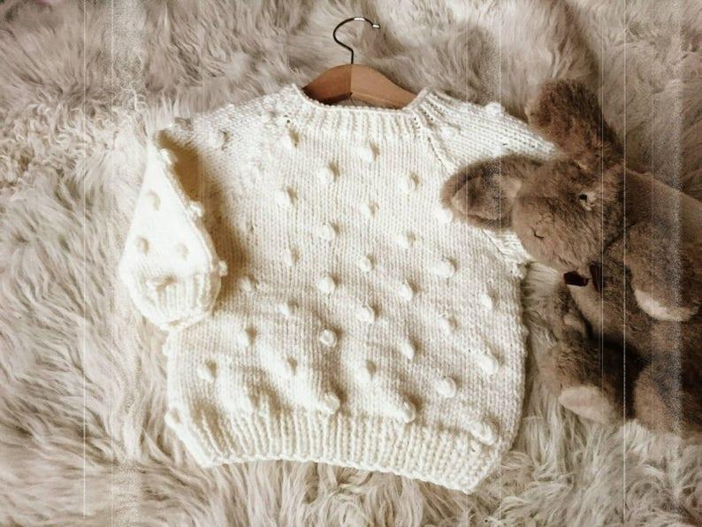 9a770eab59b41 Popcorn sweater, toddler gift, baby sweater, baby gift, toddler popcorn  sweater, girl sweater, boy sweater,
