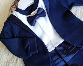 Baby tuxedo, Baby boy wedding outfit, wedding suit, wedding tuxedo, newborn tuxedo, christening outfits, baptism outfit boy