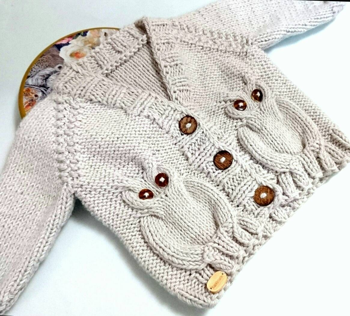 fe78e53f5 Owl baby sweater baby boy cardigan toddler sweater toddler