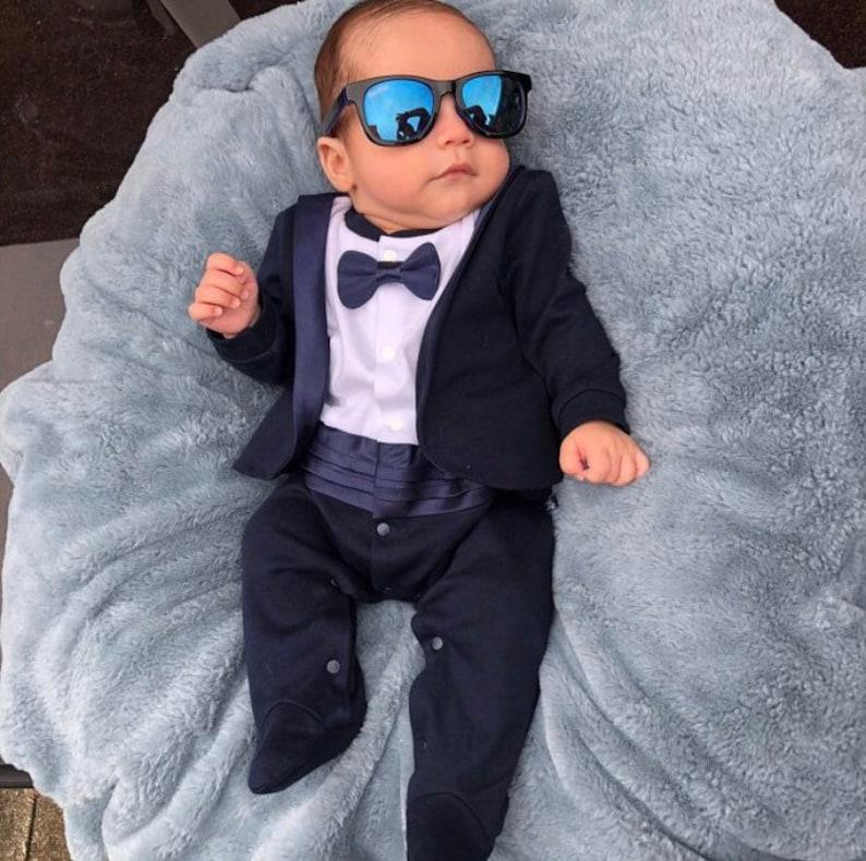 e1850b53a Baby tuxedo Baby boy wedding outfit wedding suit wedding | Etsy