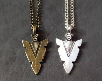 Arrowhead Necklace, Arrow necklace, viking necklace, viking jewelry, warrior necklace, warrior jewellery, archer gift, archery gift necklace