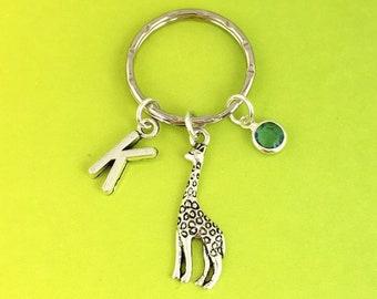 animal lovers giraffe keychain Giraffe Gifts Giraffe personalised gift gift for he giraffe key holder