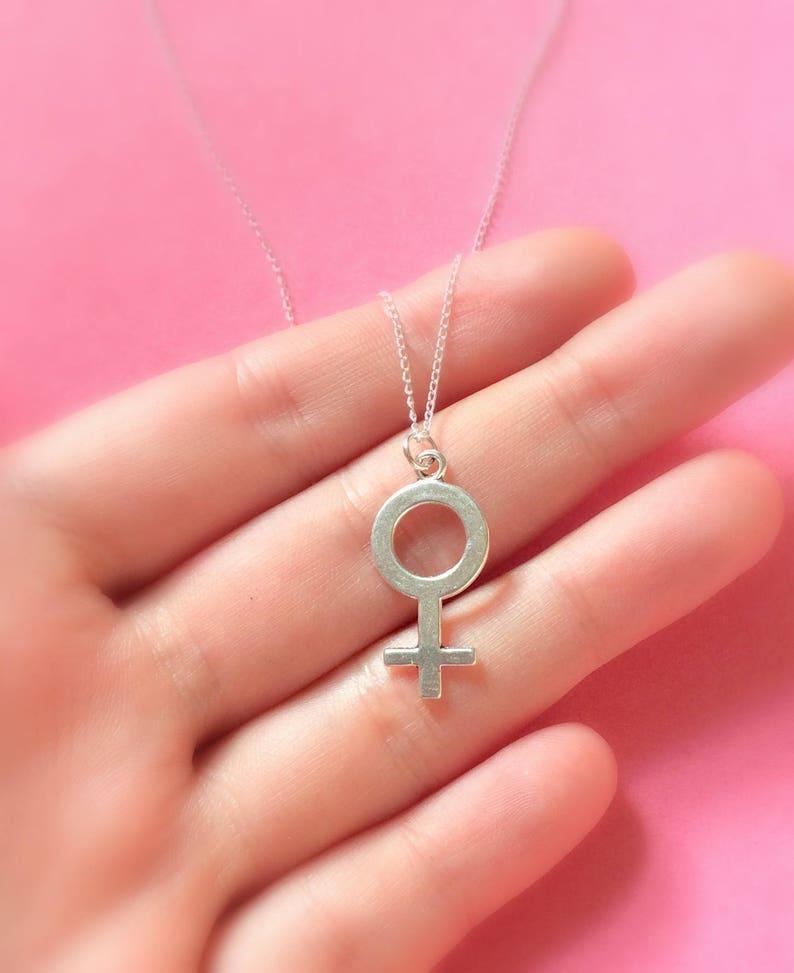 Girl Power Feminist Jewelry Feminist necklace Feminism Venus Symbol Necklace Female Symbol Necklace Female Necklace Gender Equality