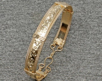 14k Gold Bracelet Women, Wire Wrap Bracelet, Gold Bangle Bracelet, Handmade Gold Fill Bangle Wrap Bracelet