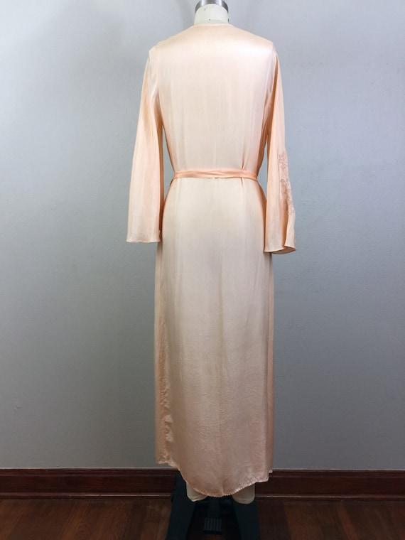 RSVD for Jeannine/Vintage 30s Peach Silk Embroide… - image 5