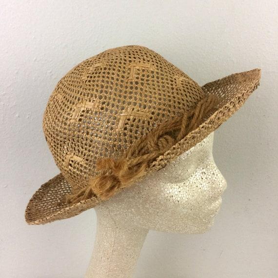 Vintage 1930s Straw Hat Hattie Banash 30s