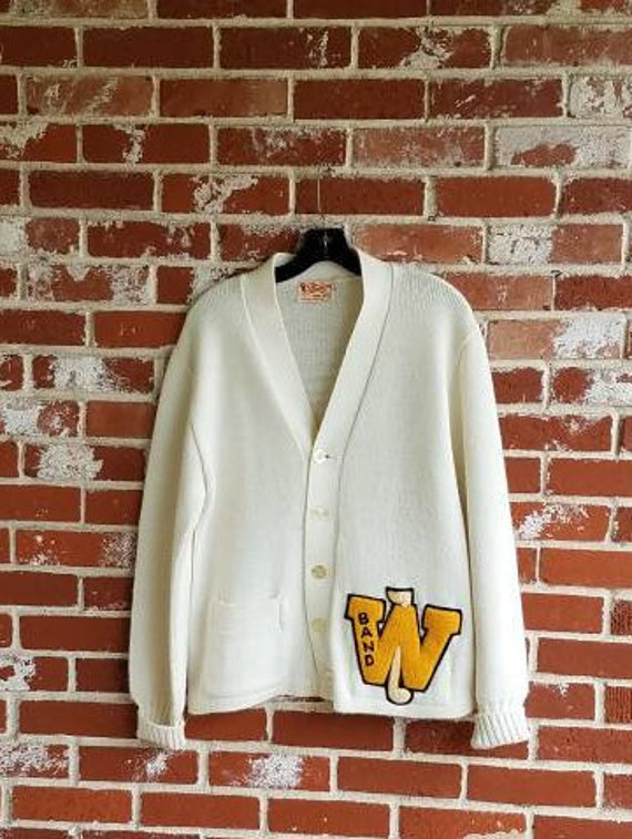 Vintage 40s/50s Letter Sweater Band Grandpa Sweate