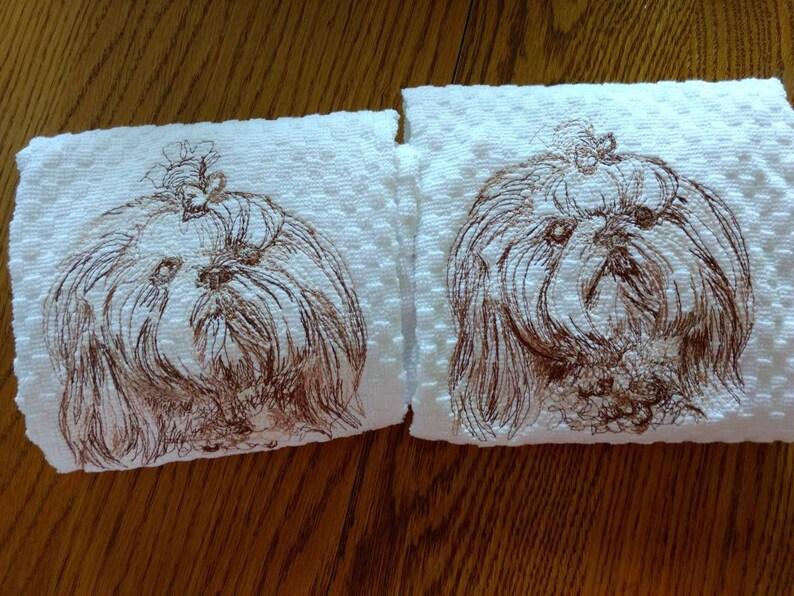 Shih Tzu kitchen towels shih Tzu dog dog lover love shih tzu kitchen towels