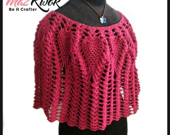 Lacy Love poncho pdf crochet pattern ( size S - 3XL )
