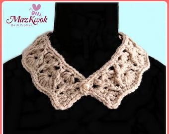 Pearl Drops Collar pdf crochet pattern