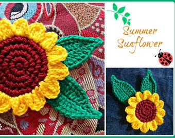 Summer Sunflower pdf crochet pattern