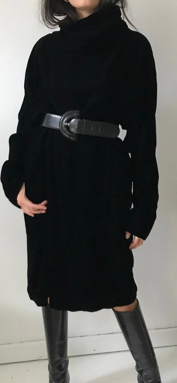 Norma Kamari Velvet Turtleneck Dress