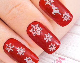 Christmas Nail Art Etsy