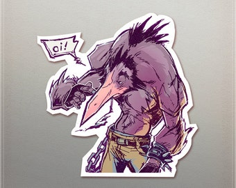 Punk Bird Sticker