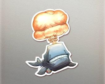Nuke Whale Sticker