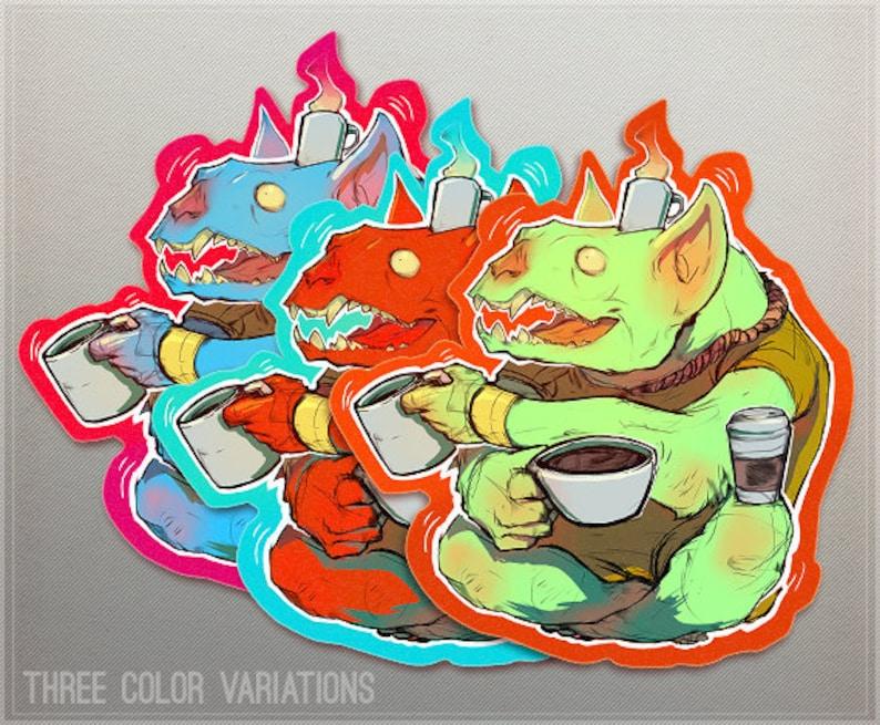 Coffee Goblin COFFEE GOBLIN COFFEEEEE Sticker image 0