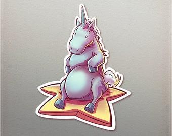 Chubby Unicorn Sticker
